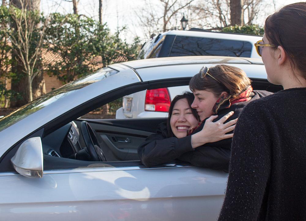 car hug