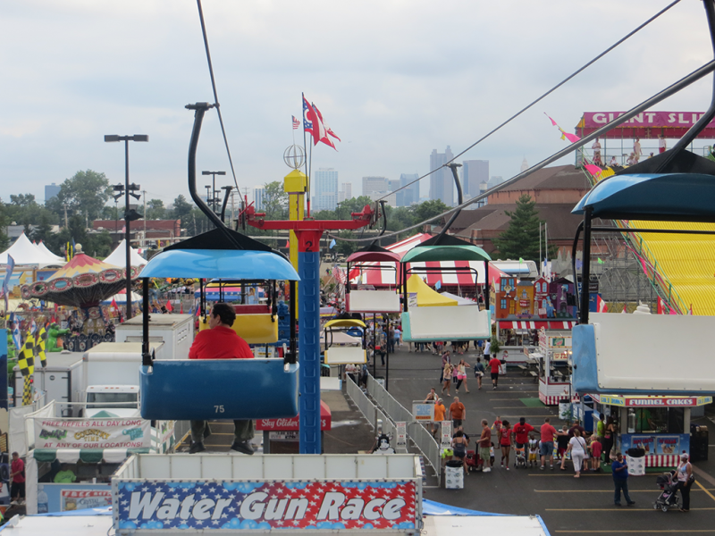 A view of the Ohio State Fair.