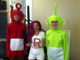 teletubbies and team rocket costume