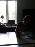 Studying like in the olden days